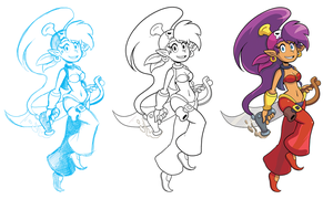 Pirate Shantae process by GeorgeRottkamp