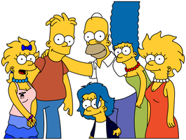 Simpsons Fantasy Family Photo by Gazmanafc