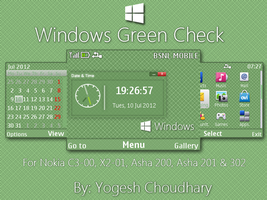 Windows Gree Check Theme for Nokia 320x240 by cyogesh56