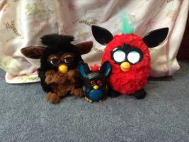 Furby Family Photo by bieber90pink