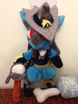 Finished Costume Lucario with Props by Glacideas