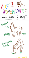 Horse Adventures by Dami and Airy by seyuri
