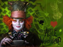 Mad Hatter Wallpaper by QueenDevious