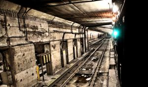 Subway Tunnel and Tracks by basseca