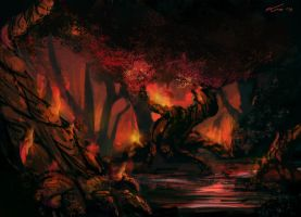 Burning forest by MatteoAscente
