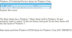Windows 10 Technichal Preview Theme for Vista by TheVistas2004