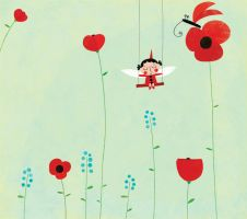 Waiting on a poppy by nicolas-gouny-art