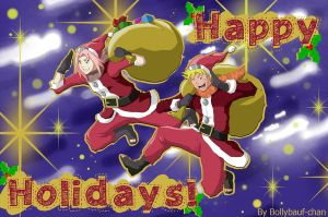 Happy Christmas Holidays! -NaruSaku Style- by Bollybauf-chan