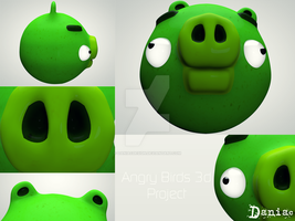 AngryBirds 3d Project  The Pig by daniacdesign