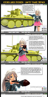 MMD Guns+Poses - Anti-Tank Weapons by Trackdancer