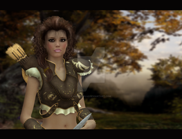 Idril AncalA mon the warrior elf by CaperGirl42