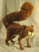 Needle Felted Red Squirrel by JessieDockins