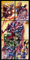 Avengers Battle Puzzle by Twynsunz