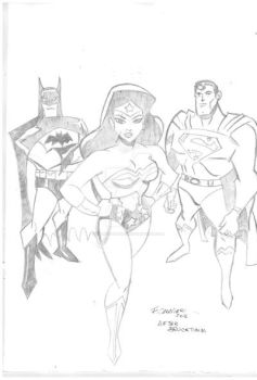 DC Trinity after Bruce Timm by FabioCaravieri