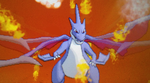 my shiny mega charizard Y by psychic-skin-taker