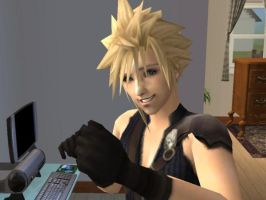 Cloud Strife- Sims 2 by missxmello