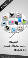 Elegant Social Media Icons-V2 by cheth
