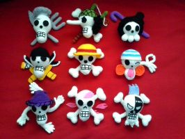 Straw hat jolly roger full set by VanillaHigh