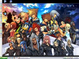 Kingdom Hearts II FM - Desktop by Neo-Geo87