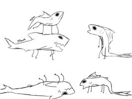 jaws and tuna scetches by cIownshark