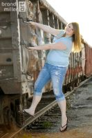 Senior Photo: Taking the Train by brandimillerart