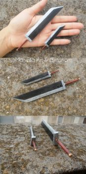 Buster Sword mini wood replica by MithriLady