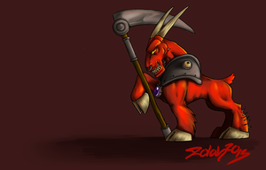 Dungeon keeper the horned reaper MLP style by Illenora