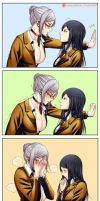 4koma - Kabedon by Gumbat-Art