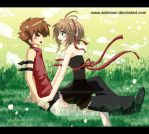. TRC Sakura and Syaoran . by aidmoon
