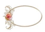 Rose Gold Oval Frame by alesscop