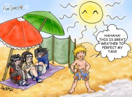 naruto comic-thing - The Beach by askerian