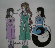FA: Aurore,Me and Sarah by Alicetiger