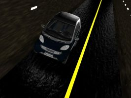 Smart car in Tunnel by NyamburaDawn
