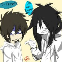 Jeffrey Hey you, yes you the boy of 13 years by LiizEsparza-Chan