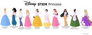 STEM Disney Princesses by AnaBastow