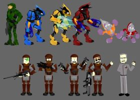 Halo Characters by morbic