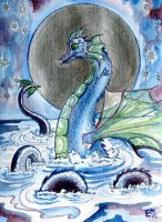 Water dragon by Willowsmummy