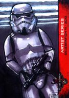 Storm Trooper #1 sketch card 501st Legion CVI 2012 by geralddedios