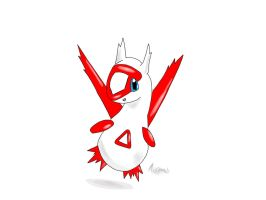 Baby Latias! by Aussydraws
