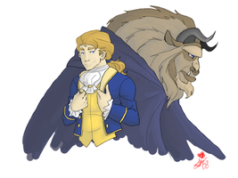 Disney Princes: Adam and Beast by tsukinoyagami