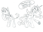 Daily sketch - Twi and Luna Style experiment by Jaestring