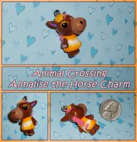 Animal Crossing - Annalise Horse Charm - Handmade by YellerCrakka
