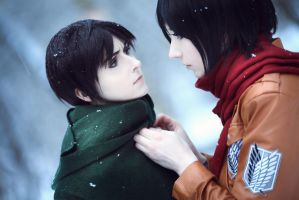 Eren and Mikasa 2 by Millenia666