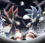 Sonic vs Shadow by Raito-Sarudoi