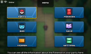 Pokemon - Menu Screen (?) by Fraot
