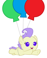 Cream Puff is Flying with Balloons by 3D4D