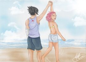 Our Day on the Beach by SassyLilPanda