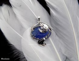 'Kamisama Kiss', handmade sterling silver pendant by seralune