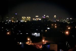 Jakarta in the night by SAMPLE2