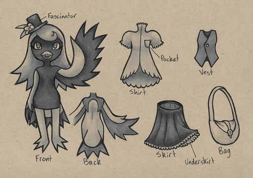 Lady Magpie Reference by Norcinu